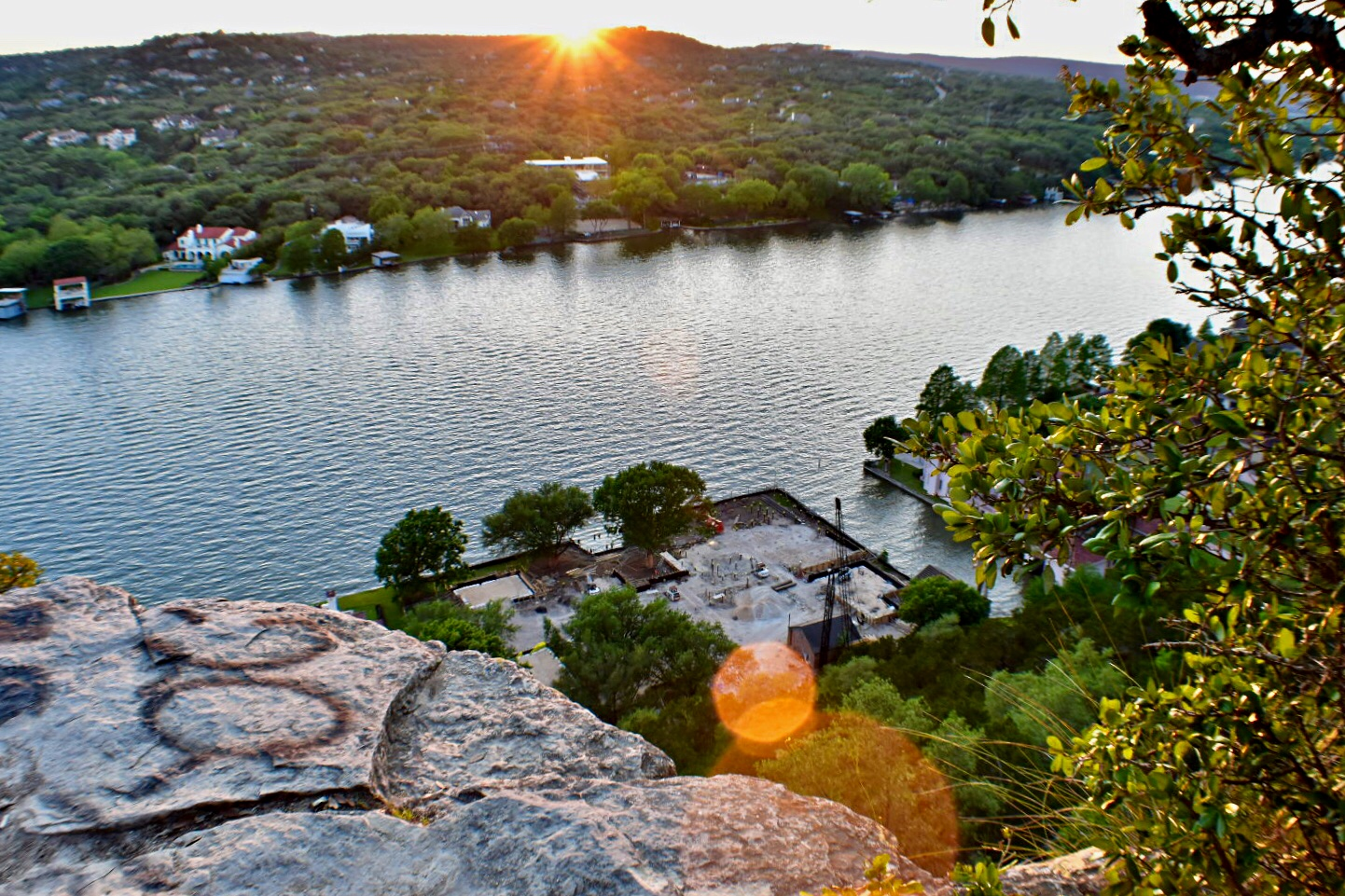 mt bonnell looking to the river