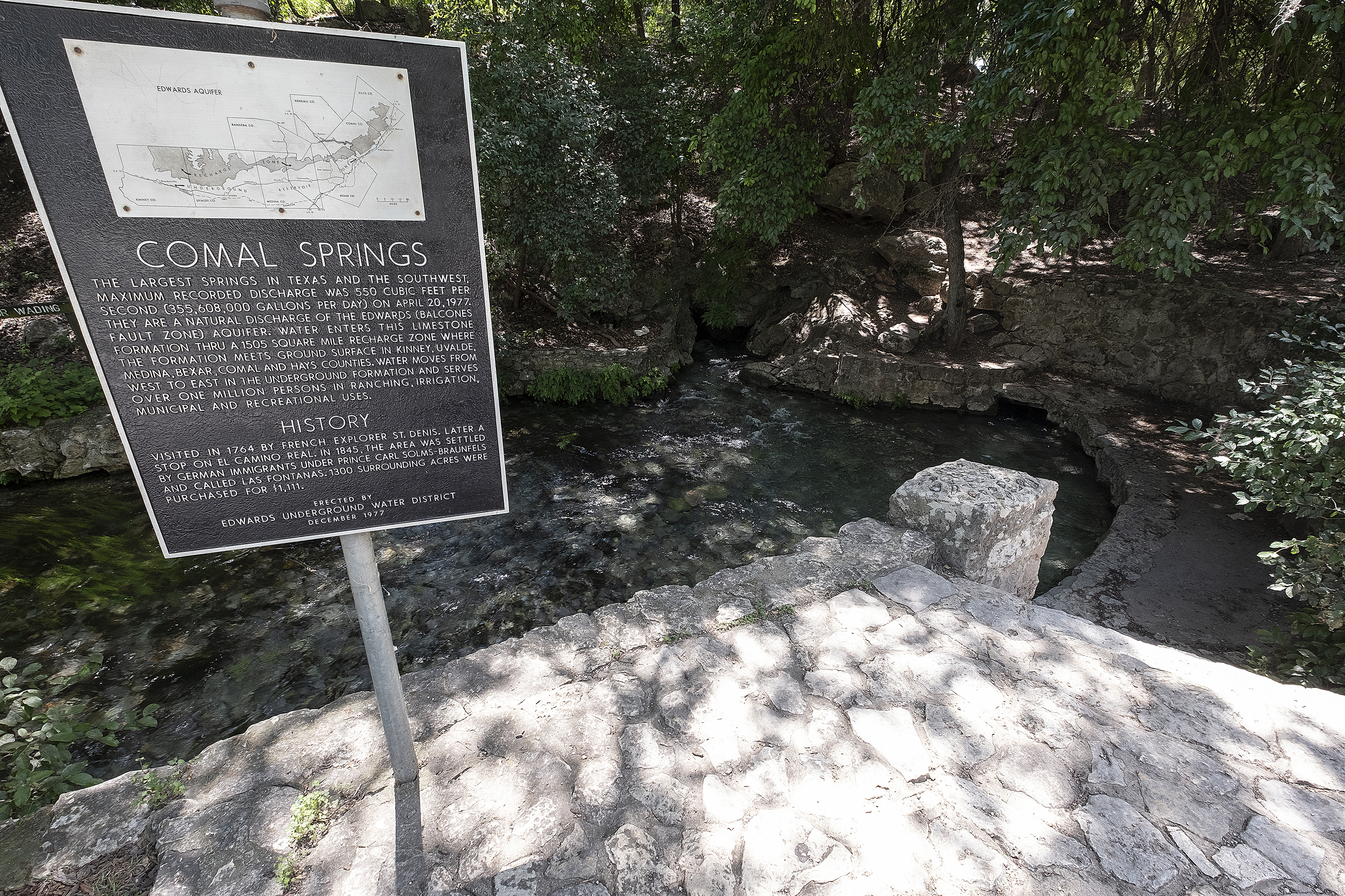 06-17-2019 -- Comal Springs in New Braunfels, Tx. These springs feed what becomes the Comal River.