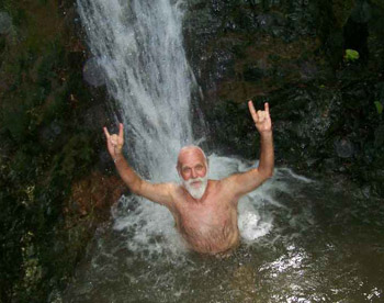 Wayne at a Waterfall