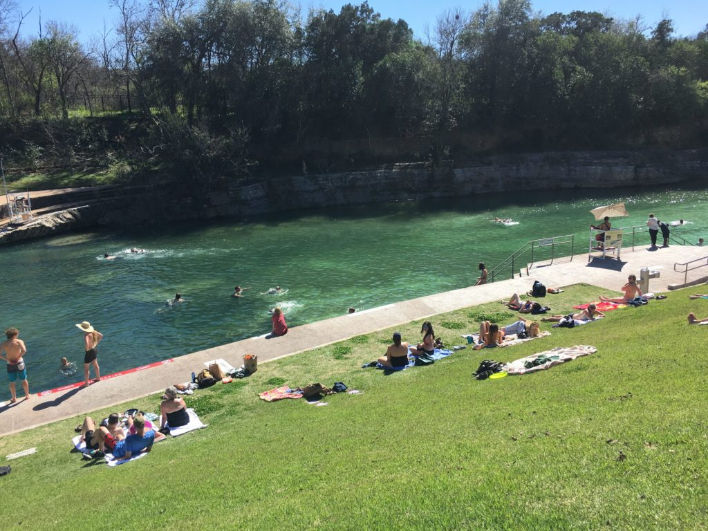Lounging at Barton Springs