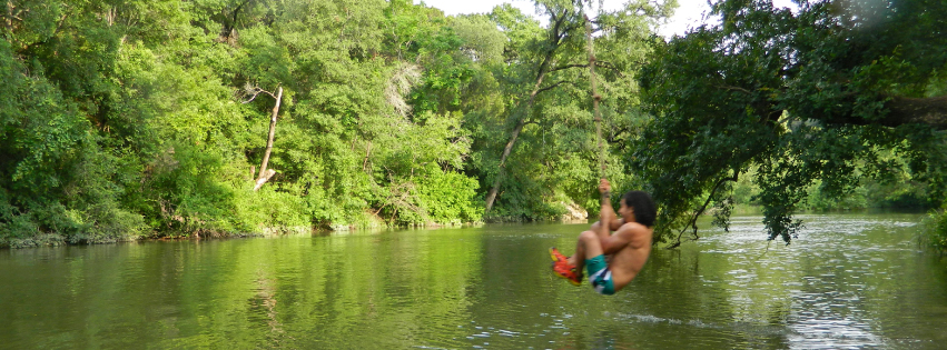 rope swing over the creek