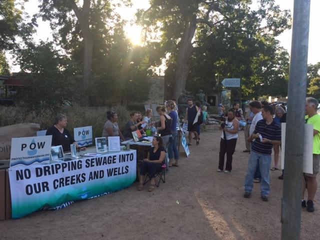 #nodrippingsewage rally