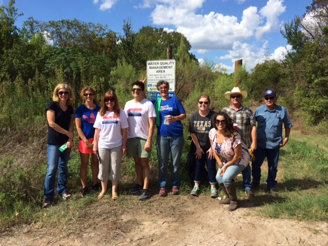 Volunteers at Water Quality Management Area