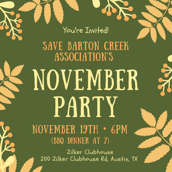 Annual Party is November 19th