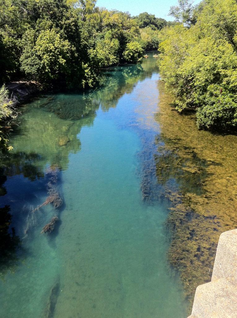 Below Barton Springs Pool