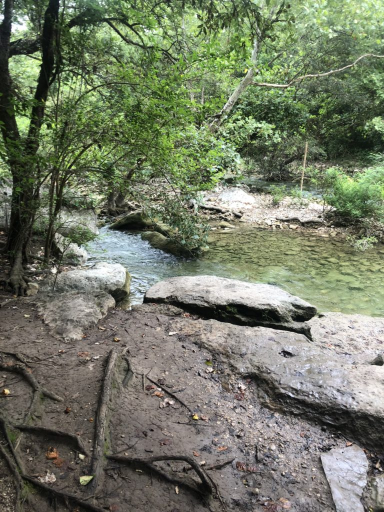 Running water at barton creek