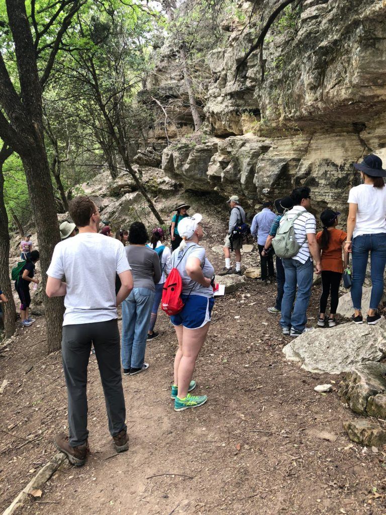guided hikes - checking out rock faces