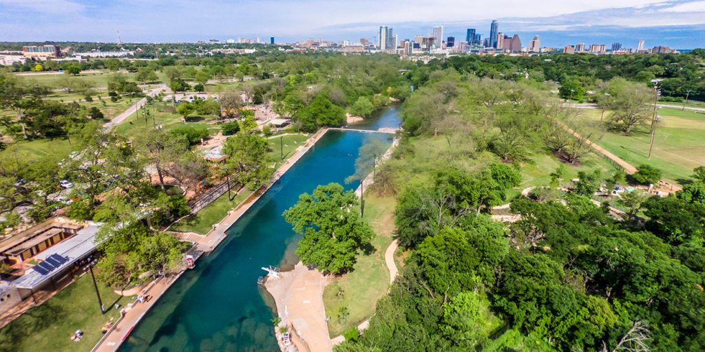 save our springs drone shot