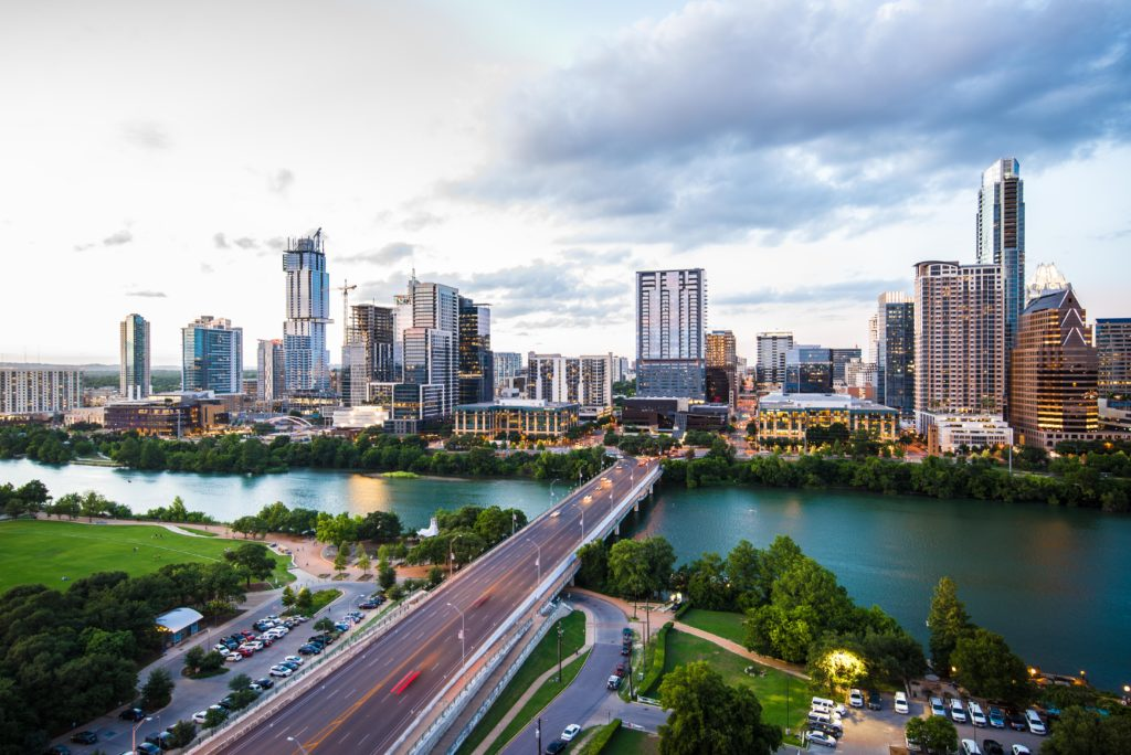 view of downtown austin from south